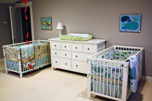 décoration-chambre-bébé-chambre-jumeaux