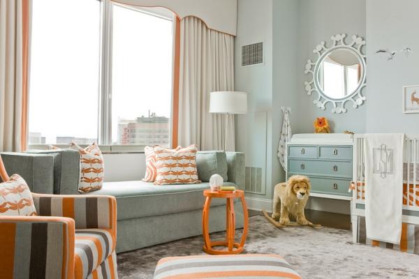 décoration-chambre-bébé-couleurs-atypiques-motifs-d'Afrique