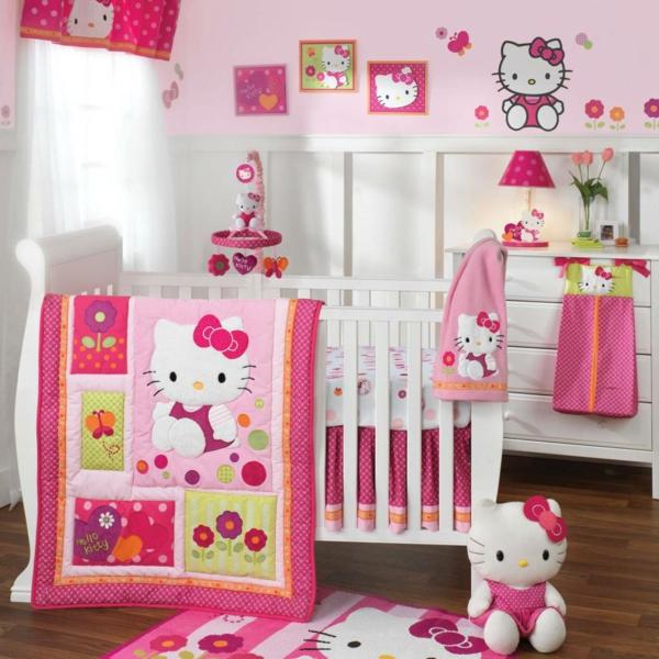 décoration-chambre-bébé-déco-chambre-hello-kitty