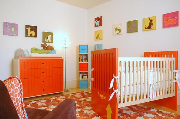 décoration-chambre-bébé-déco-en-orange