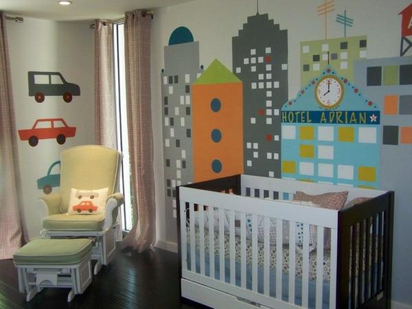 décoration-chambre-bébé-déco-murale-New-York