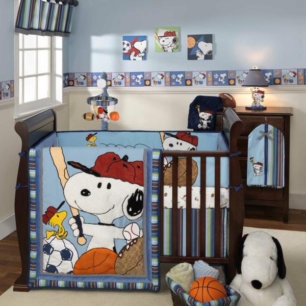 décoration-chambre-bébé-design-de-lit-amusant-déco-murale-intéréssante