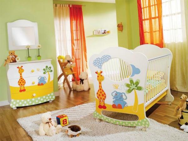 décoration-chambre-bébé-meubles-déco-dessins-d'animaux