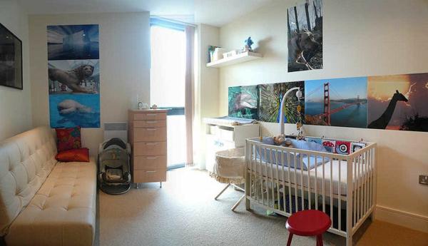 décoration-chambre-bébé-photos-encadrées