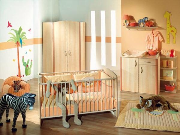 décoration-chambre-bébé-thème-animaux