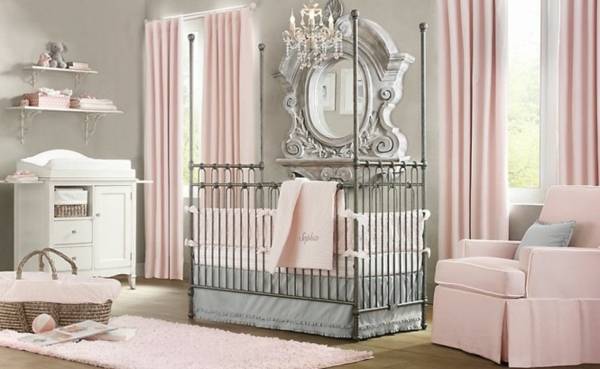 décoration-chambre-bébé-un-décor-élégant-pour-bébé-fille
