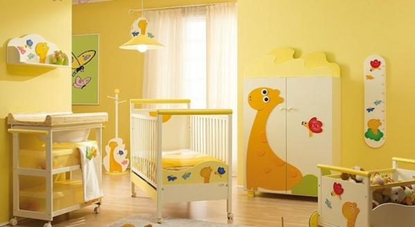 décoration-chambre-bébé-une-chambre-en-jaune-radiant