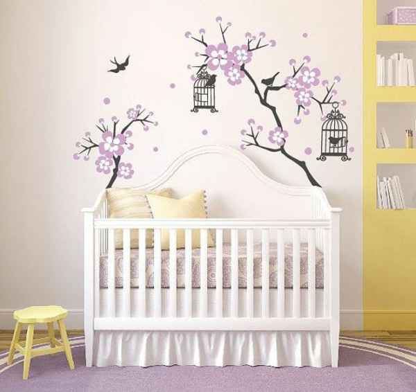 stickers arbre blanc chambre bebe. Black Bedroom Furniture Sets. Home Design Ideas