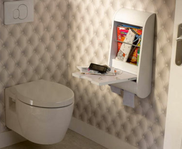 Le meuble wc for Meuble mural toilette