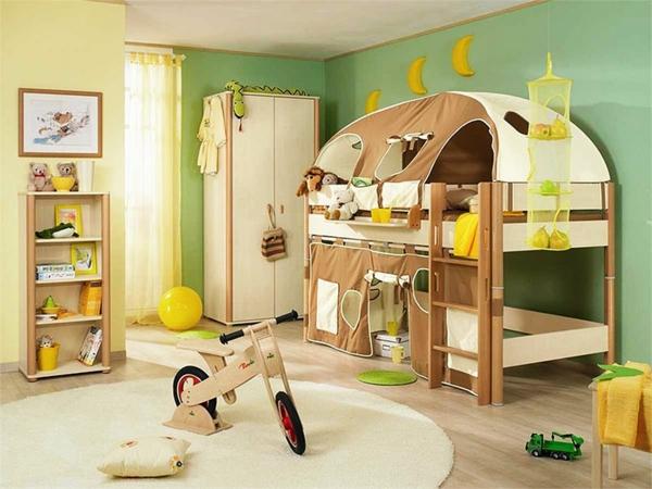 design-chalbre-d'enfant-avec-une-idée-écologique-et-li-mezzanin-tente