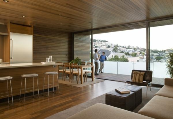 design-de-la-cuisine-porte-coulissante-vintée-et-mobilier-en-bois-pour-un-style-cosy