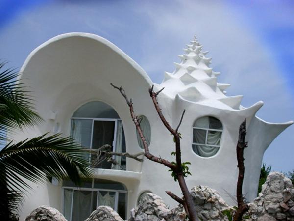 design-de-maison-en-blanc-avec-des-formes-ovales