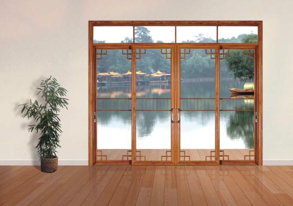 la porte coulissante vitr e la peinture est la nature. Black Bedroom Furniture Sets. Home Design Ideas