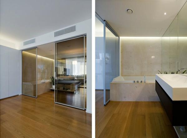 La porte coulissante pour la salle de bain for Jolie salle de bain
