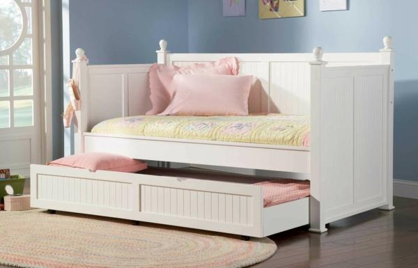 Le mobilier design d 39 enfant pour une chambre en gris - Lits jumeaux escamotables ...