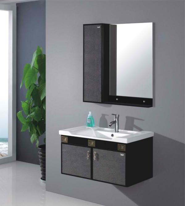 luxueux-ameublement-pour-votre-salle-de-bain-simple-en-noir-et-gris
