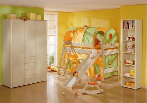 magnifique-chambre-à-coucher-en-jaune-et-vert