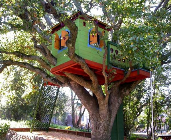 maison-dans-les-arbre-multicolore-avec-des-fenêtre-décoration