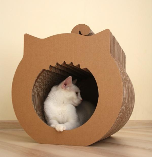 maisonnette-pour-chat-adorable-en-carton