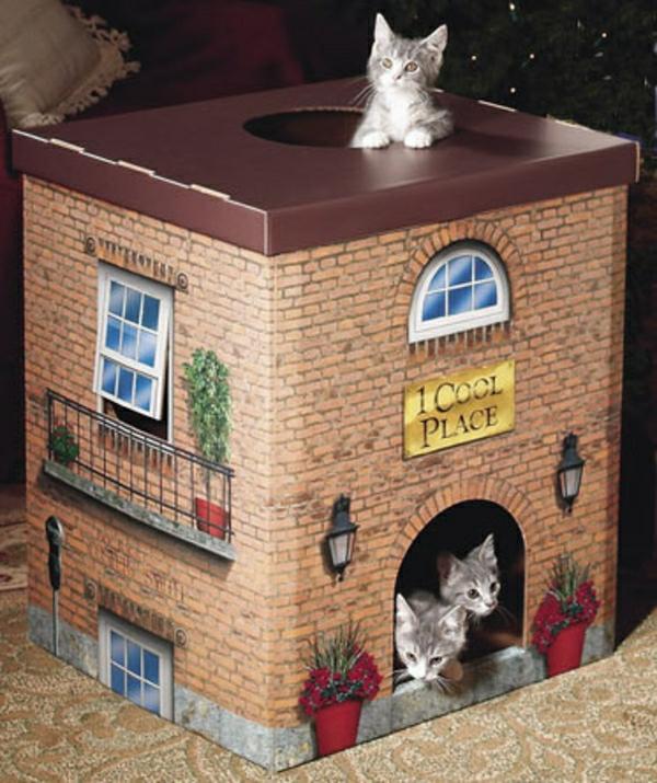 maisonnette-pour-chat-originale