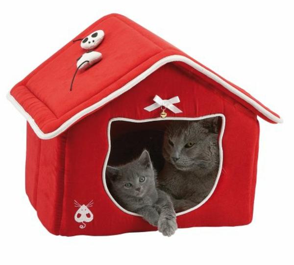 maisonnette-pour-chat-rouge
