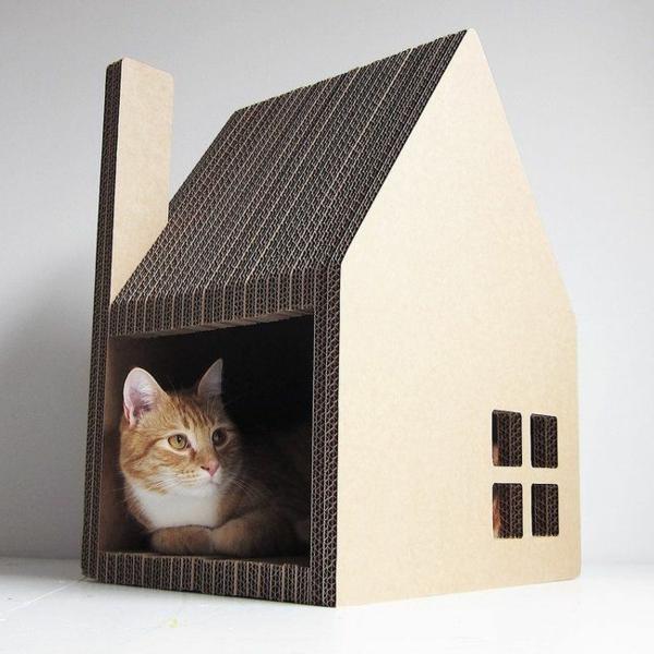 maisonnette-pour-chat-sympathique