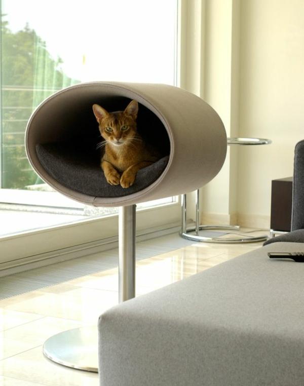 maisonnette-pour-chat-une-niche-ovale