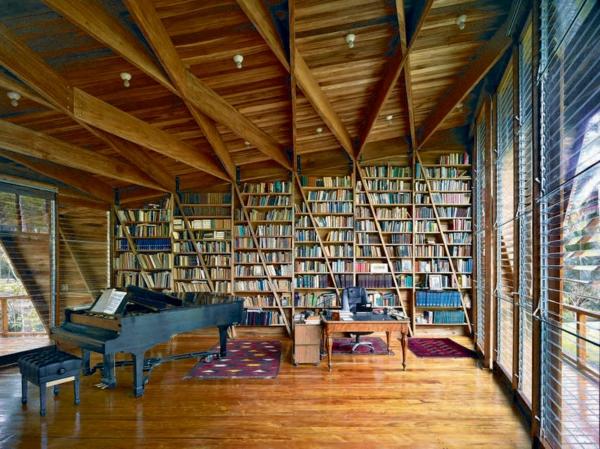 maisons-contemporaines-bibliothèque-splendide