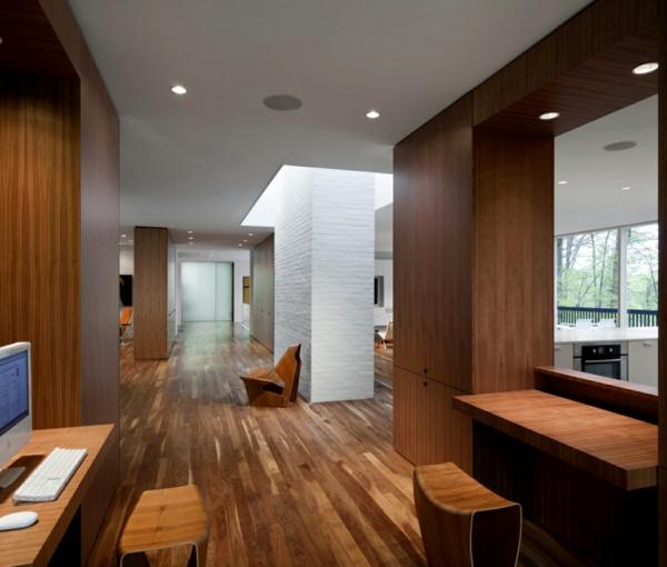maisons-contemporaines-intérieur-d'une-maison-moderne-en-bois-foncé