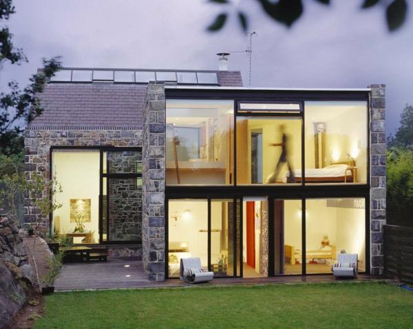Les maisons contemporaines fonctionnalit maximale et for Facade maison moderne pierre