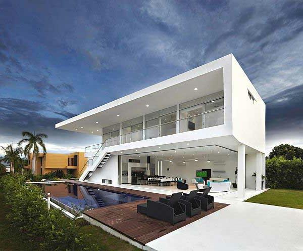 maisons-contemporaines-maison-moderne-avec-piscine