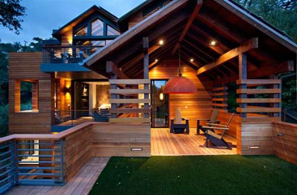 Les maisons contemporaines fonctionnalit maximale et - Transformer une cheminee rustique en contemporaine ...