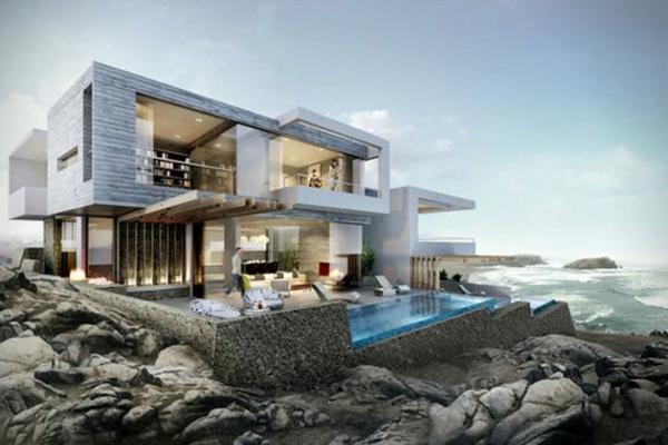 maisons-contemporaines-maison-préfabriquée-piscine-originale