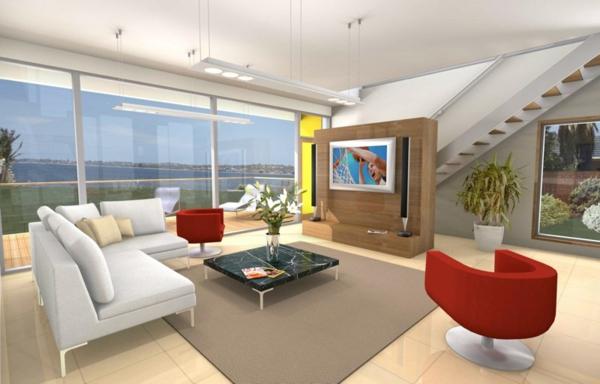 maisons-contemporaines-salle-de-séjour