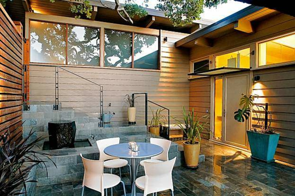 Maisons contemporaines une cour moderne