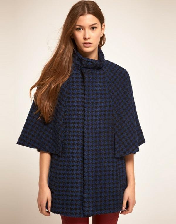 manteau-cape-textile-bleu