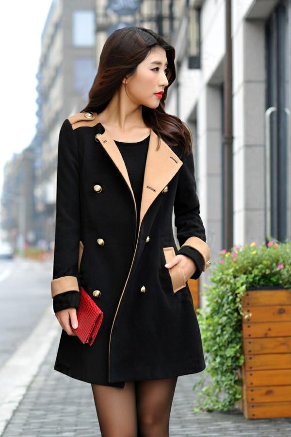 manteau-desigual-coloris-noir-et-beige