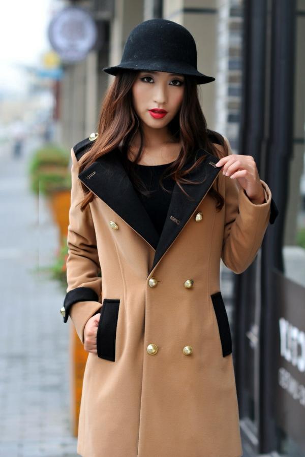 manteau-desigual-couleur-écru-et-noir