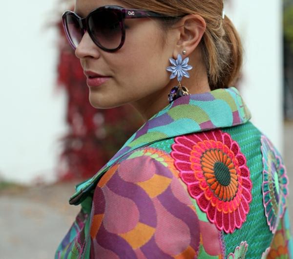 manteau-desigual-fleur-imprimée