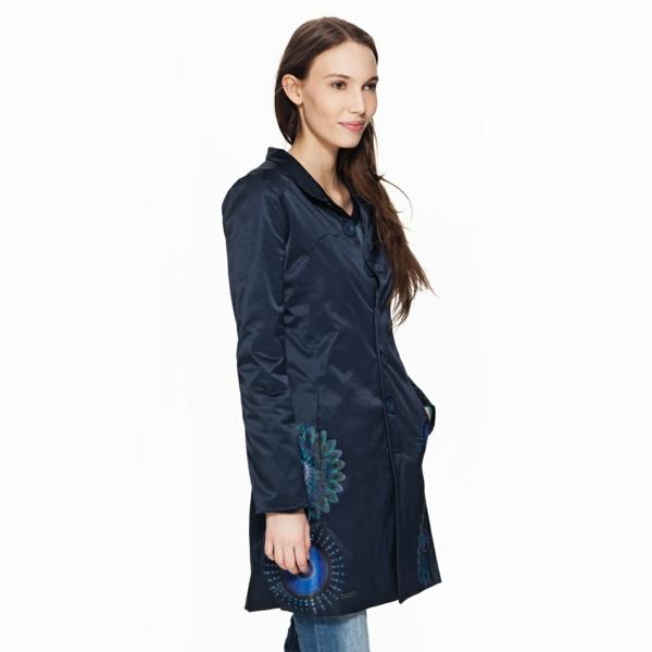 manteau-desigual-modèle-long-en-bleu