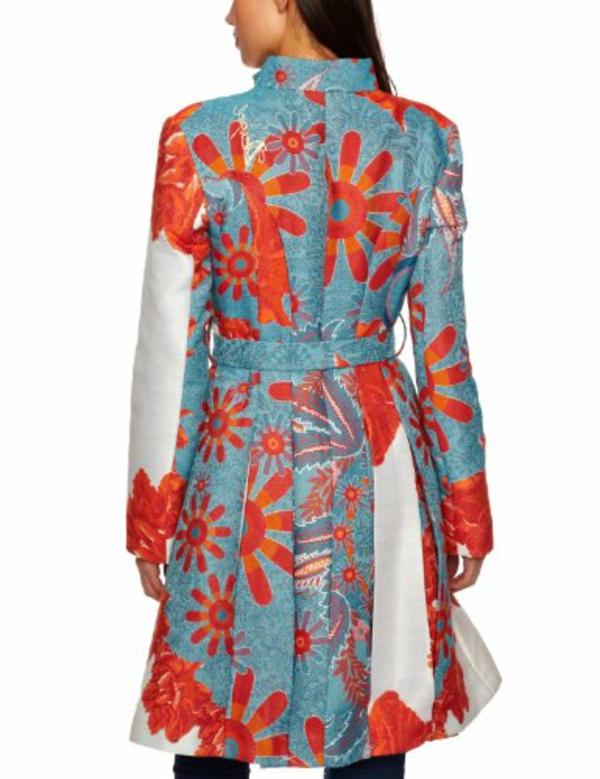 manteau-desigual-motifs-floraux-oranges
