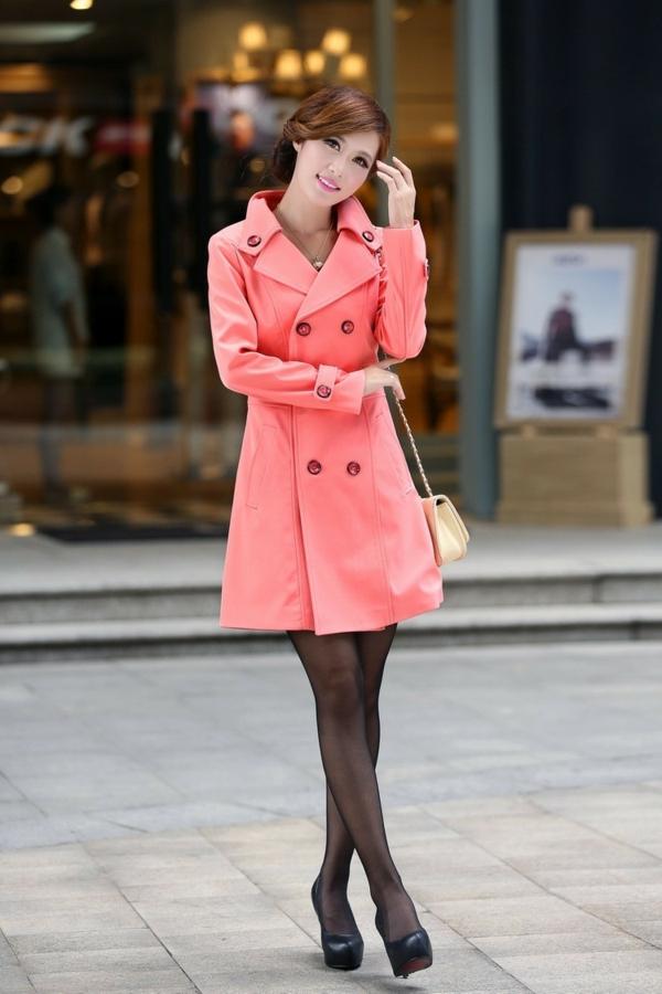 manteau-desigual-rose-silhouette-classique