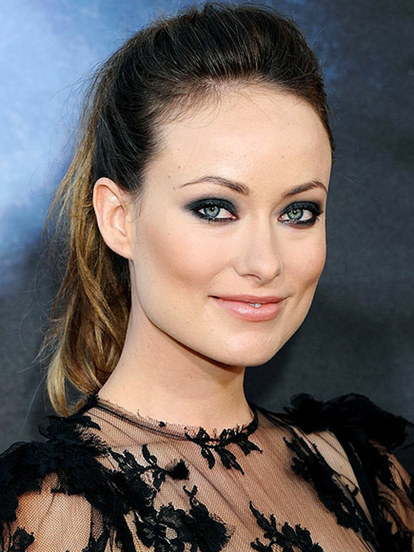 maquillage-smokey-eyes-Olivia-Wilde