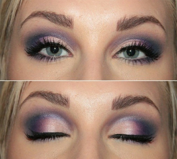 Le maquillage smokey eyes pour un regard ensorcelant - Maquillage naturel yeux bleus ...