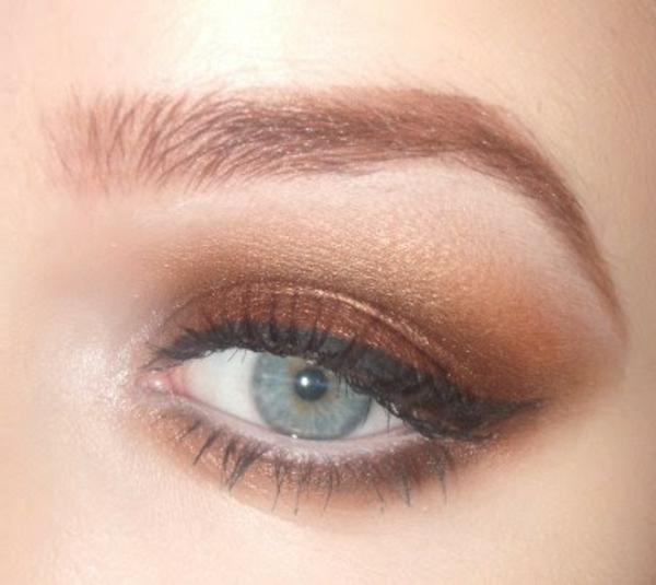 maquillage-smokey-eyes-maquillage-doux-marron-doré