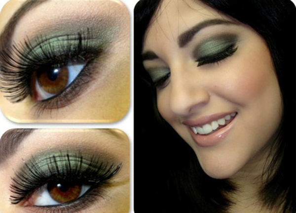 maquillage-smokey-eyes-paupières-vertes