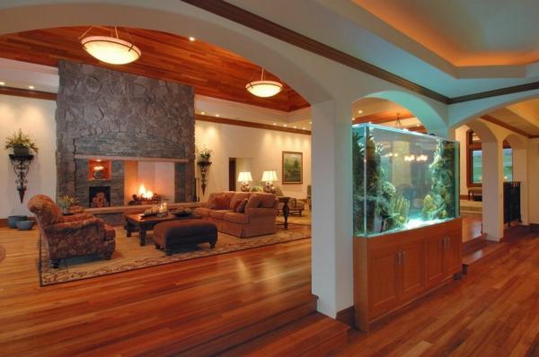 meuble-aquarium-intérieur-rustique-et-chaleureux