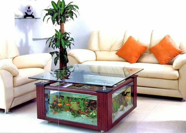 table basse salon aquarium aulne. Black Bedroom Furniture Sets. Home Design Ideas