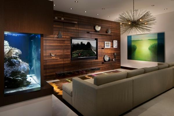 La décoration avec un meuble aquarium - Archzine.fr