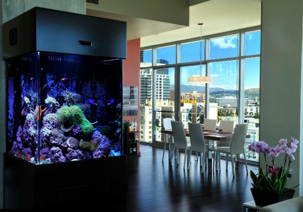 meuble-aquarium-salle-de-séjour-glamoureuse